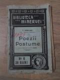 POEZII POSTUME-T. ROBEANU (DR. GEORGE POPOVICI)