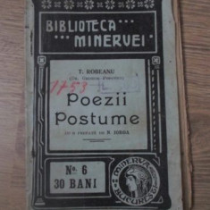 POEZII POSTUME - T. ROBEANU (DR. GEORGE POPOVICI)