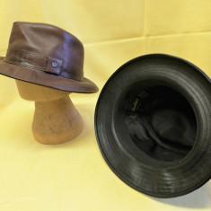 pălărie piele maro Borsalino