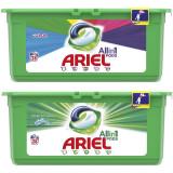 Pachet promo: Detergent capsule Ariel All in One PODS Mountain Spring 28 spalari + Detergent capsule Ariel All in One Color 28 spalari