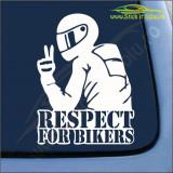 Respect For Bikers Model 2 -Stickere Auto-Cod:ESV-189 -Dim  25 cm. x 18.2 cm.