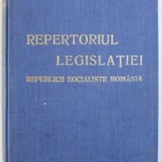 REPERTORIUL LEGISLATIEI REPUBLICII SOCIALISTE ROMANIA - LEGI SI DECRETE , 1980