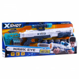 Set pusca X-Shot Hawk Eye cu luneta, 12 proiectile, 5 tinte