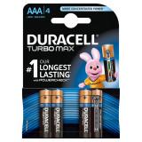 Baterii Duracell Turbo Max AAA, R3 4 Baterii / Set