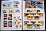 Clasor 323 timbre straine nestampilate + 14 colite, serii complete MNH