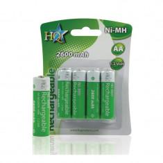 Acumulatori NiMH 4xAA HQ, 2600 mAh