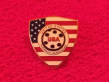 Insigna (rara) - Federatia de Hockey pe podea din USA