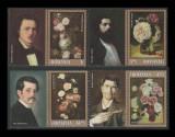 Romania 2013, Trandafiri in pictura LP 2007 b, serie cu vignete pictori MNH