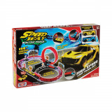 Set de joaca cu 2 masinute High Speed Loop Track Motormax