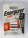 Set 2 baterii litiu Energizer CR2 3V - sigilate - expira 12-2029