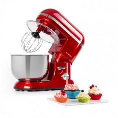 Klarstein Bella Elegance, robot de bucătărie, 1300 W, 1,7 HP, 6 nivele, 5 litri, roșu