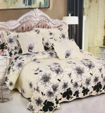 Cuvertura de pat + 4 Fete de Perne - Pat 2 Persoane - 100% Bumbac - E-S12