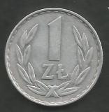 POLONIA 1 ZLOT ZLOTY 1977 [1] XF , livrare in cartonas, Europa, Aluminiu