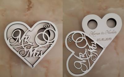Cutie Verighete Personalizata Mr&Mrs foto