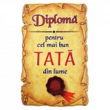 Magnet Diploma pentru Cel mai bun TATA din lume, lemn, Alexer