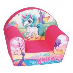 Fotoliu din burete pentru copii, Micul Unicorn
