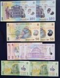 Lot cate 2 * bancnote consecutive 100 - 50 - 10 - 5 - 1 Lei  Romania