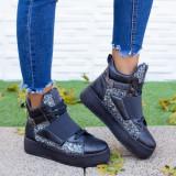 Sneakers dama cu platforma gri Acira -rl