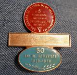 Insigna ecuson 1979 - A 3 a conferinta de Istoria medicinei si farmaciei