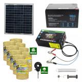 Gard electric cu Panou solar 3,1J putere cu 9000m Fir 160Kg cu acumulator 12Ah