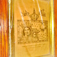 """A732-Gravura catolica Italia veche-,,Adevarata efigie a Sf. Maria del Arco""""."""