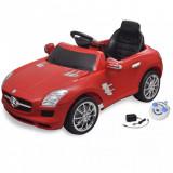Mașinuță electrică Mercedes Benz SLS AMG 6 V cu telecomandă, roșu, vidaXL