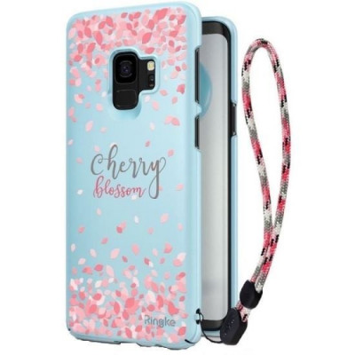 Husa Samsung Galaxy S9 G960Ringke Cherry Blossom Albastra foto