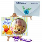 Invitatii duble botez Winnie the Pooh Handmade by Diana Puiu IDBW 5