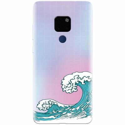 Husa silicon pentru Huawei Mate 20, Waves foto