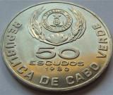 Cumpara ieftin Moneda exotica 50 ESCUDOS - CAPUL VERDE, anul 1980 *cod 2565, Africa