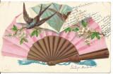 (@) carte postala(ilustrata)-VESTITORII PRIMAVERII- litografie, Necirculata, Printata
