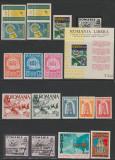 1957-1968 Exil Romania - Lot 16 timbre + 1 colita, rezistenta anticomunista