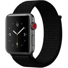Curea pentru Apple Watch 40mm iUni Woven Strap, Nylon Sport, Black