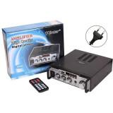 Amplificator audio stereo tip statie cu slot pentru SD Card USB si Radio FM Kinter-004A