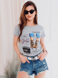 Cumpara ieftin Tricou femei SLR007 - gri, L, M, S, XL