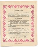 Invitatie bal circa anul 1899 Valea Vinului Satu Mare Borhid Szamosborhid