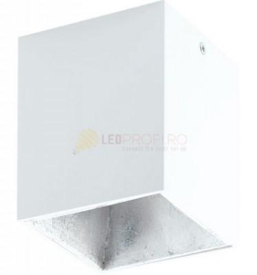 PLAFONIERA LED 3.3W ALB ARGINT foto
