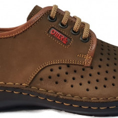 Pantofi barbati casual perforati din piele cu siret Otter 9558