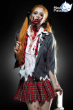 Costum Eleva Zombie, L, S/M, XL, Gri, Mask Paradise