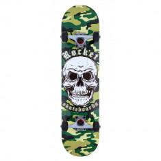 Skateboard Rocket Combat Skull Camo 7.75 inch