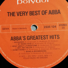 Abba - The Very Best Of - discul 1(1979/Polydor/RFG) - Vinil/Vinyl/