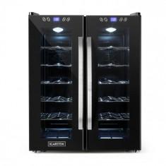 Klarstein SaloonNapa frigider pentru sticle de vin 67 litri, 2 uși de sticlă, 11-18 ° C, negru
