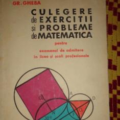 culegere de exercitii si probleme de matematica an 1967/459pagini- gheba