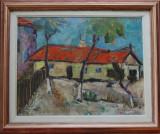 Brădățanu - Casă cu acoperiș roșu. 1965