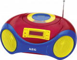 AEG 400627 Radio CD player,karaoke, Incl. microfon, multicolor,varf antena rupt