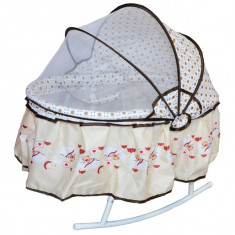 Balansoar pentru bebelusi cu protectie insecte