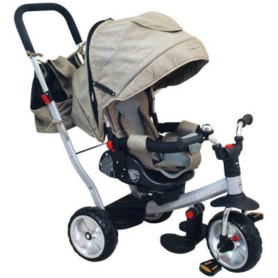 Tricicleta cu spatar reglabil Comfort Beige Baby Mix resigilat foto