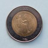 SAN MARINO - 500 Lire 1986 - Revolution of Technology  -  aUNC