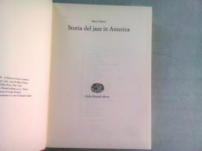 Storia del jazz in America , Barry Ulanov