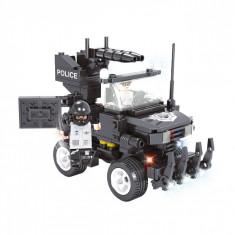 Set cuburi Lego model vehicul de politie, 229 piese, negru